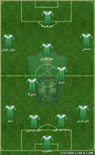 Al-Ahli (KSA) 4-4-1-1 football formation