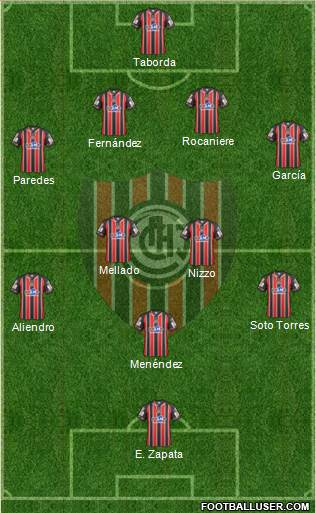 Chacarita Juniors 4-4-1-1 football formation