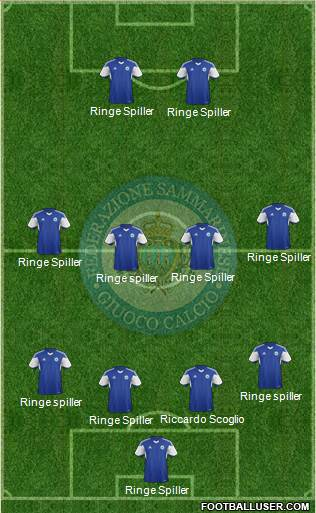 San Marino 4-4-2 football formation