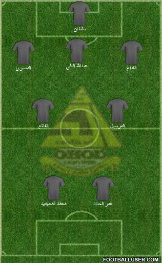 Ohod 3-4-1-2 football formation