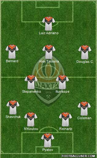 Shakhtar Donetsk 4-2-3-1 football formation