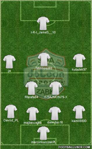 Dolcan Zabki 4-2-3-1 football formation