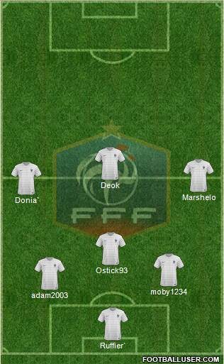 France 3-4-2-1 football formation
