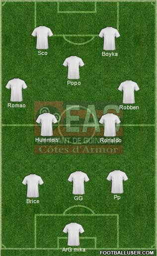 En Avant de Guingamp 3-5-2 football formation