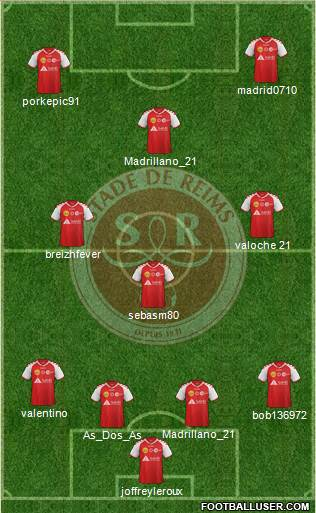 Stade de Reims 4-3-3 football formation