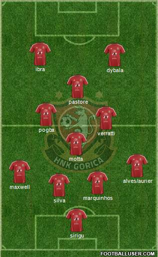 HNK Gorica 4-4-1-1 football formation