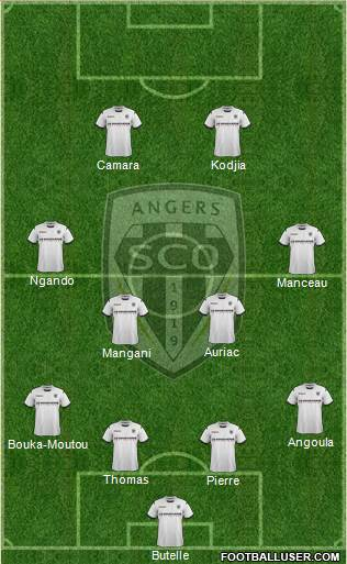 Angers SCO 4-3-1-2 football formation