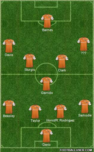 Houston Dynamo 4-1-4-1 football formation