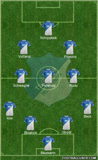 TSG 1899 Hoffenheim 4-3-2-1 football formation