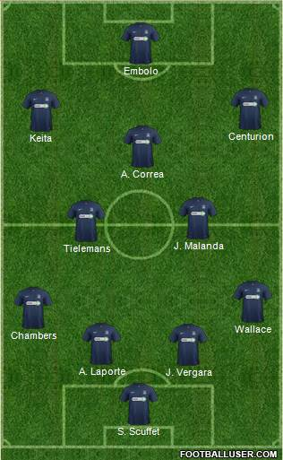 Southend United 4-5-1 football formation