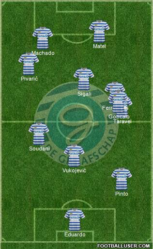 De Graafschap 5-4-1 football formation