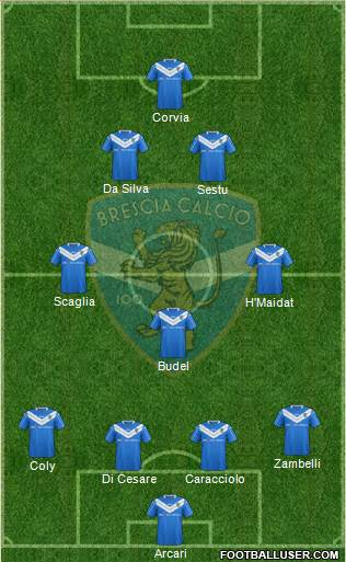 Brescia 4-3-2-1 football formation