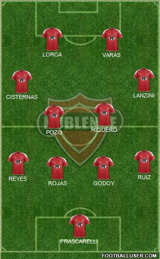 CD Ñublense S.A.D.P. 4-4-2 football formation