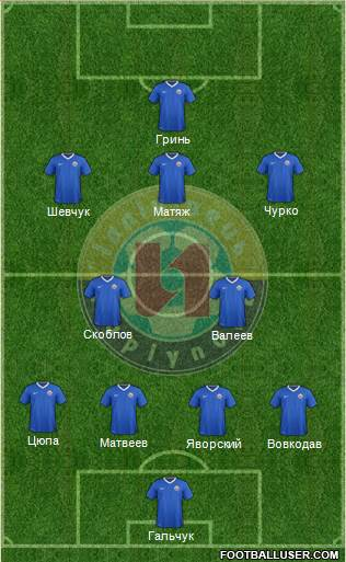Illichivets Mariupol 4-4-2 football formation