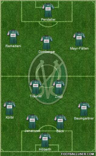 SV Ried 3-5-1-1 football formation