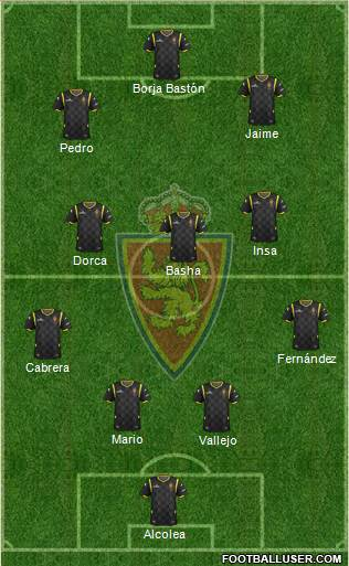 R. Zaragoza S.A.D. 4-5-1 football formation