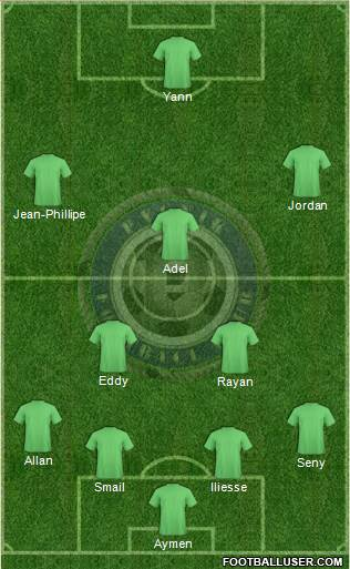 Pyunik Yerevan 4-2-1-3 football formation