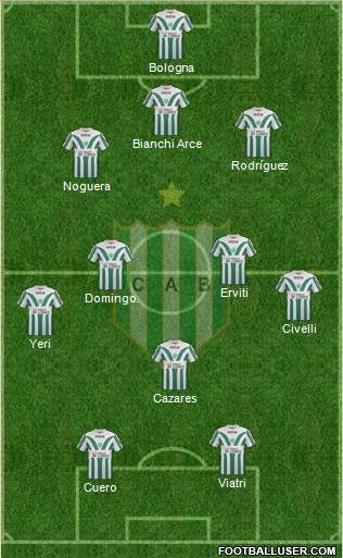 Banfield 5-3-2 football formation