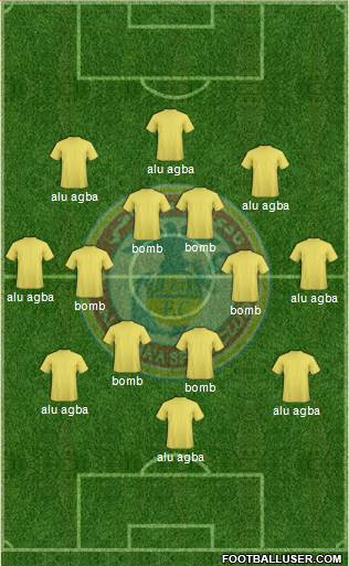 Al-Mina'a Sports Club 4-1-3-2 football formation