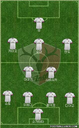 Kashima Antlers 4-2-3-1 football formation