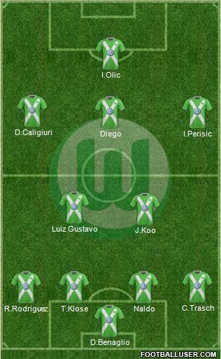 VfL Wolfsburg 4-1-4-1 football formation