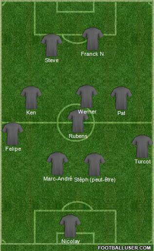 Dream Team 4-4-2 football formation