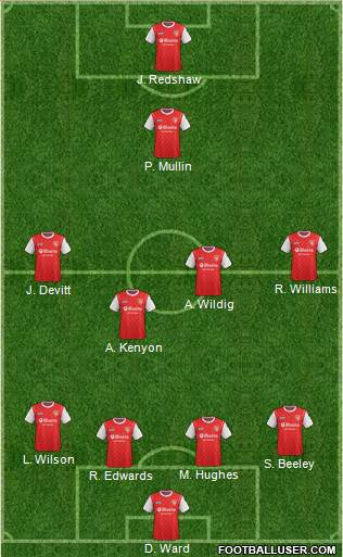 Morecambe 4-4-1-1 football formation
