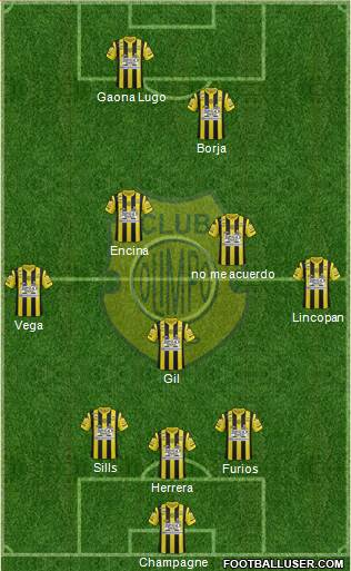 Olimpo de Bahía Blanca 3-5-2 football formation