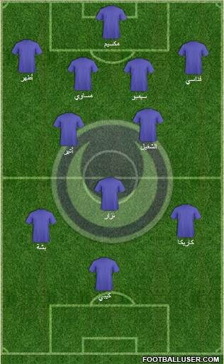 Al-Hilal Omdurman 4-2-3-1 football formation