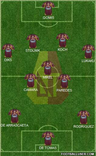 CC Deportes Tolima 4-3-3 football formation