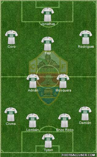 Elche C.F., S.A.D. football formation