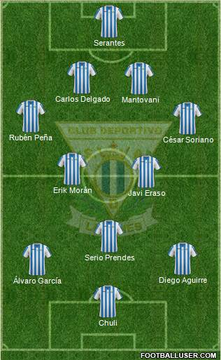 C.D. Leganés S.A.D. 4-2-1-3 football formation
