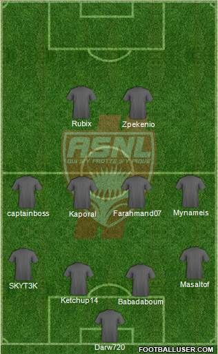 A.S. Nancy Lorraine 4-4-2 football formation