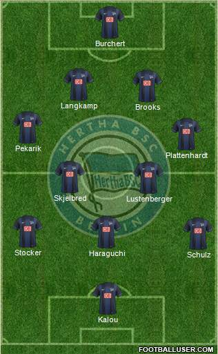 Hertha BSC Berlin 4-5-1 football formation