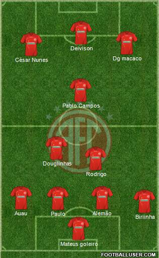 América FC (RJ) 4-3-3 football formation