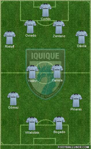 CD Municipal Iquique S.A.D.P. 4-4-2 football formation