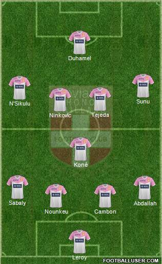 Evian Thonon Gaillard Football Club 4-1-4-1 football formation