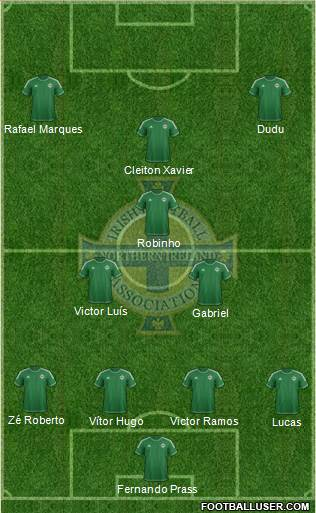 Northern Ireland 4-4-2 football formation