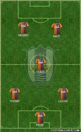 Ehime FC 3-4-3 football formation