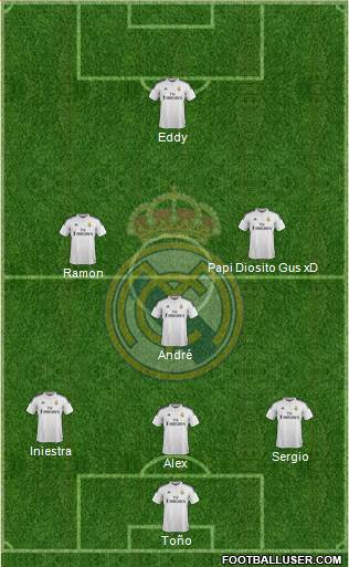 Real Madrid C.F. 4-2-4 football formation