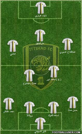 Al-Ittihad (KSA) 4-2-3-1 football formation