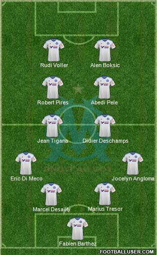 Olympique de Marseille 4-2-2-2 football formation