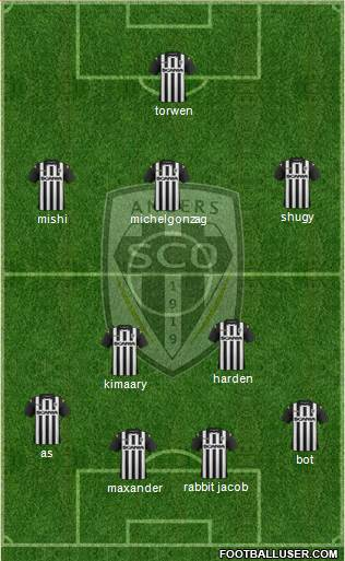 Angers SCO 4-2-3-1 football formation