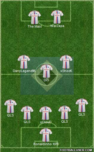 Hamburger SV 5-3-2 football formation