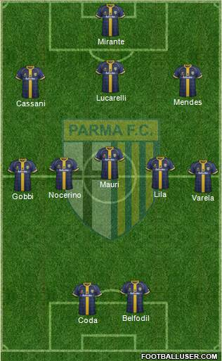 Parma 3-5-2 football formation