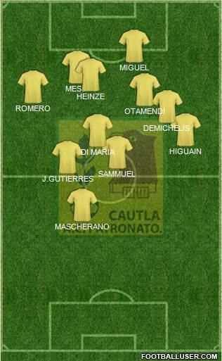 Club Deportivo Cuautla 3-4-1-2 football formation