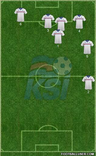 Iceland 5-3-2 football formation
