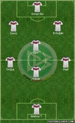 Germany 5-4-1 football formation