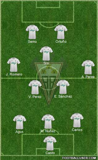 Albacete B., S.A.D. 3-5-2 football formation