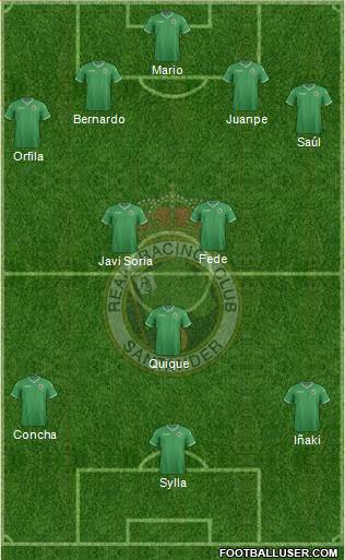 R. Racing Club S.A.D. 4-3-3 football formation